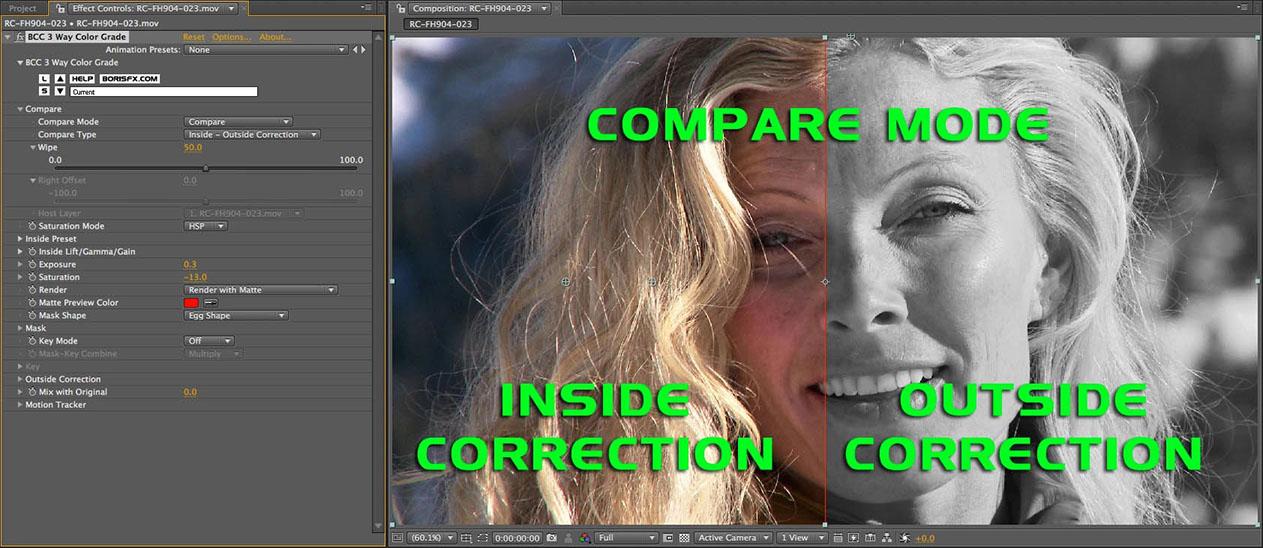 Compare Mode - Inside Outside