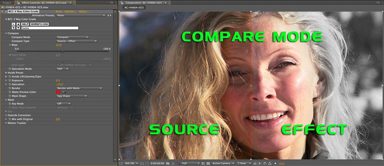 Compare Mode - Source Effect