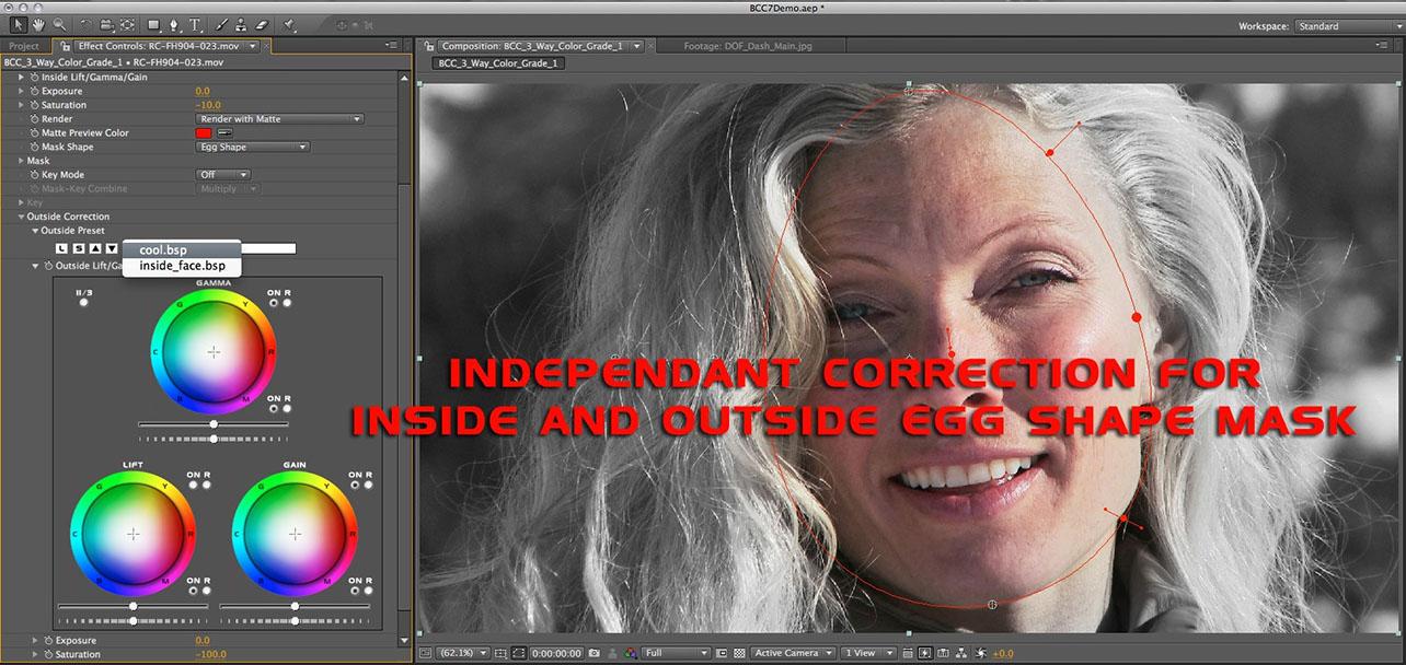 Independent Inside vs Outside Correction
