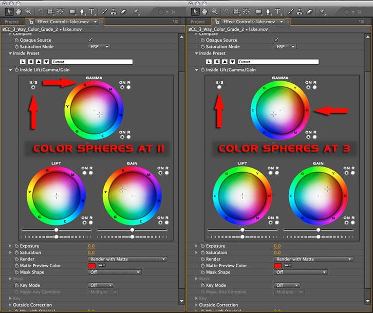 Color Wheel Orientation