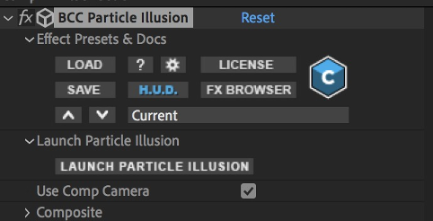 After Effects Use Comp Camera Checkbox