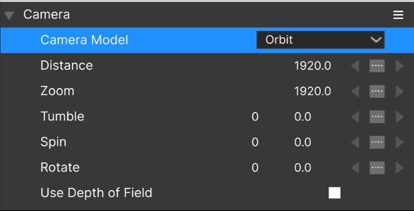 3D Particles Camera Model Orbit