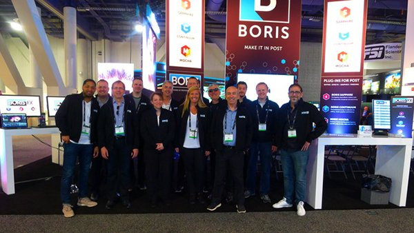 Boris FX booth at NAB Tradeshow in Las Vegas