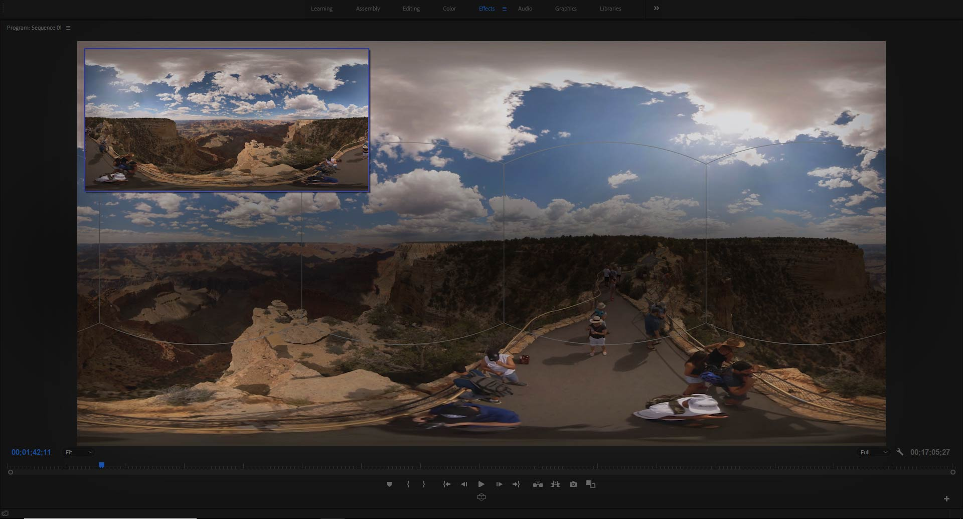 A 360 degree image of the Grand Canyon