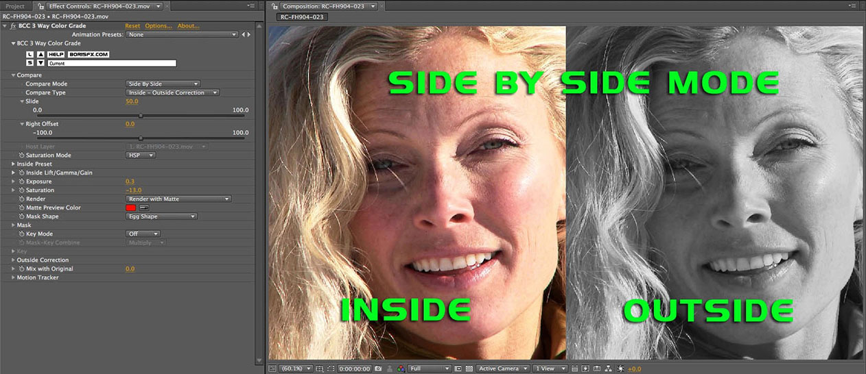 Side by Side Mode - Inside Outside