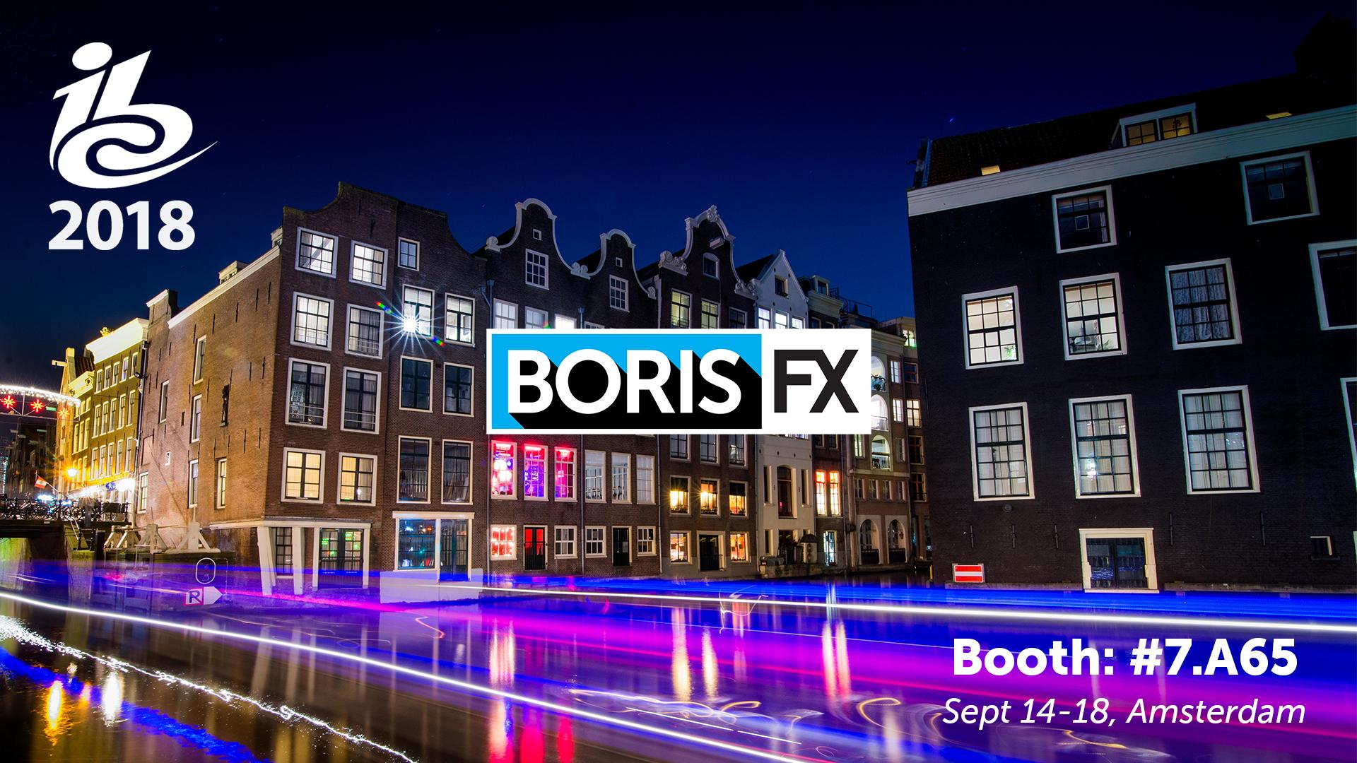 Boris FX IBC 2018 banner