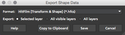 4.1.0 Export HitFilm Shape Data