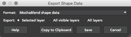 4.1.3 Export MochaBlend Shape Data