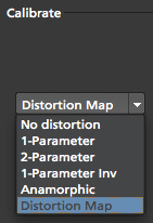lens distortion map calibration