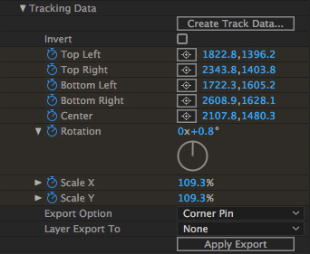 520 Mochapro Ae Plugin Tracking Data Section Then Choose The Layer You