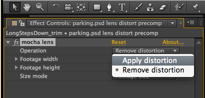 lens applydistortionplugin ae