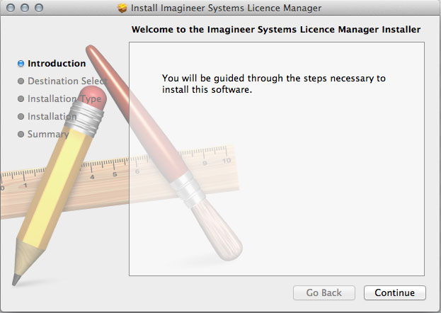 Mac OSX License Manager Install