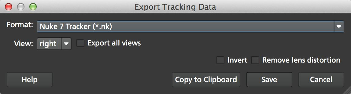 4.0.0 Export Tracking Data