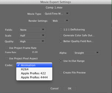 Export Options MacOS 10.7