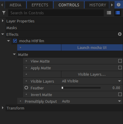 5.1.1 mocha hitfilm plugin full interface