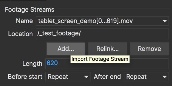 clip stream addbutton