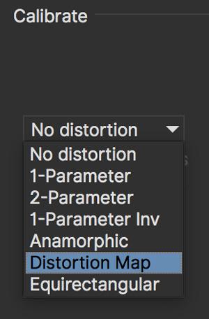 lens distortion map calibration