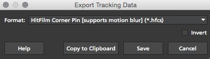 4.1.0 Export HitFilm Track Data