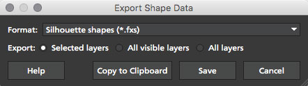 5.0.0 export silhouette shape data