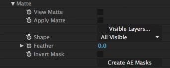 5.0.0 mochapro ae plugin matte section