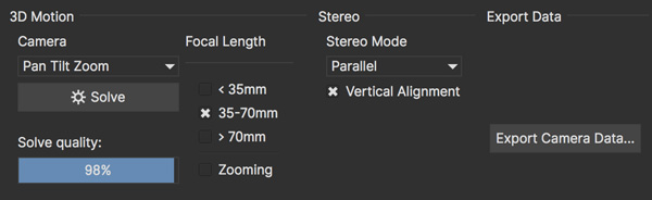 Stereo Camera Solve