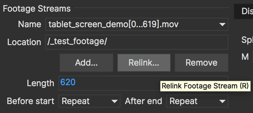 clip stream relinkbutton