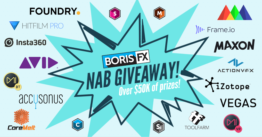Boris FX Raffle Giveaways