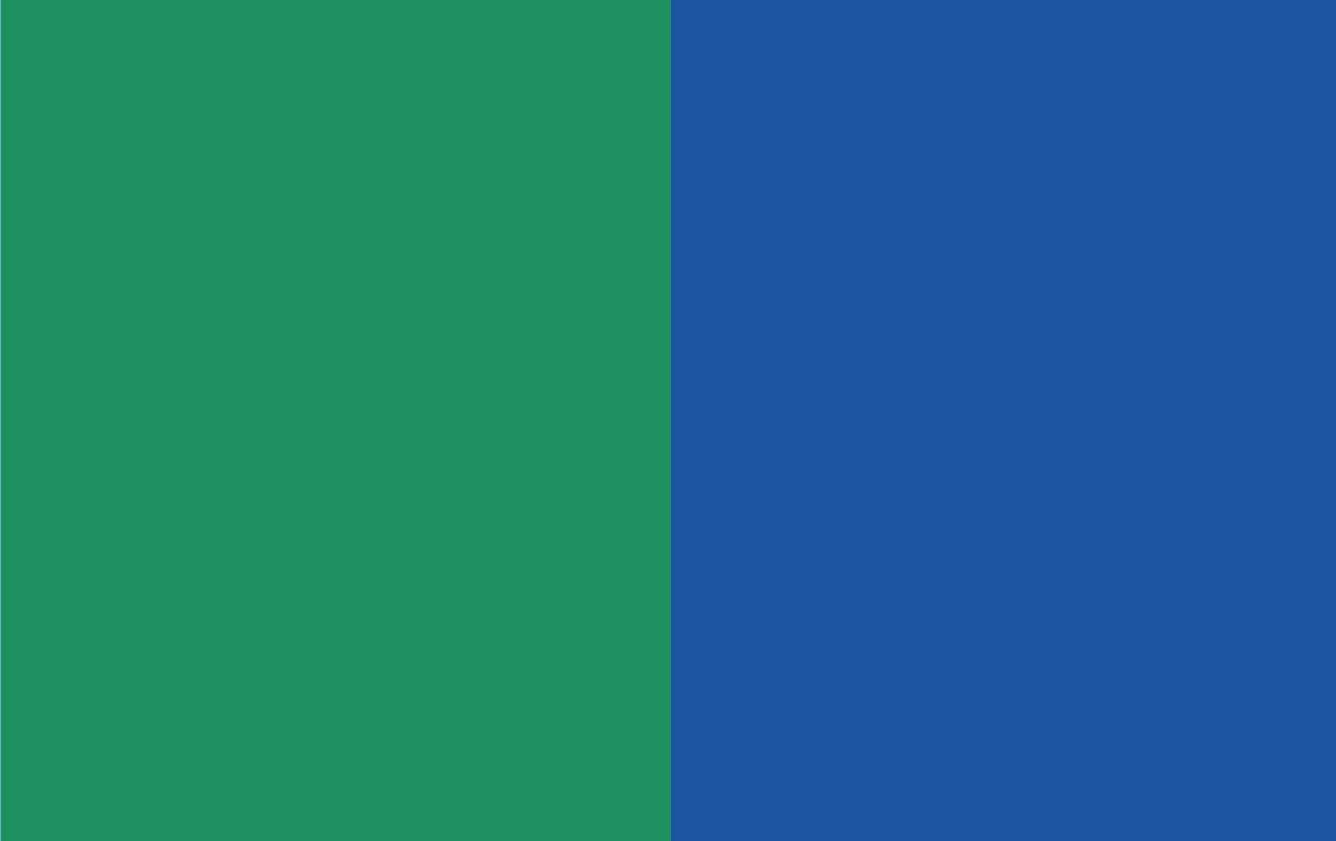 Blue versus green
