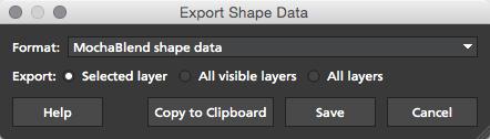 4.1.3 Export MochaBlend Shape Data