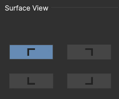 adjusttrack transform surface view