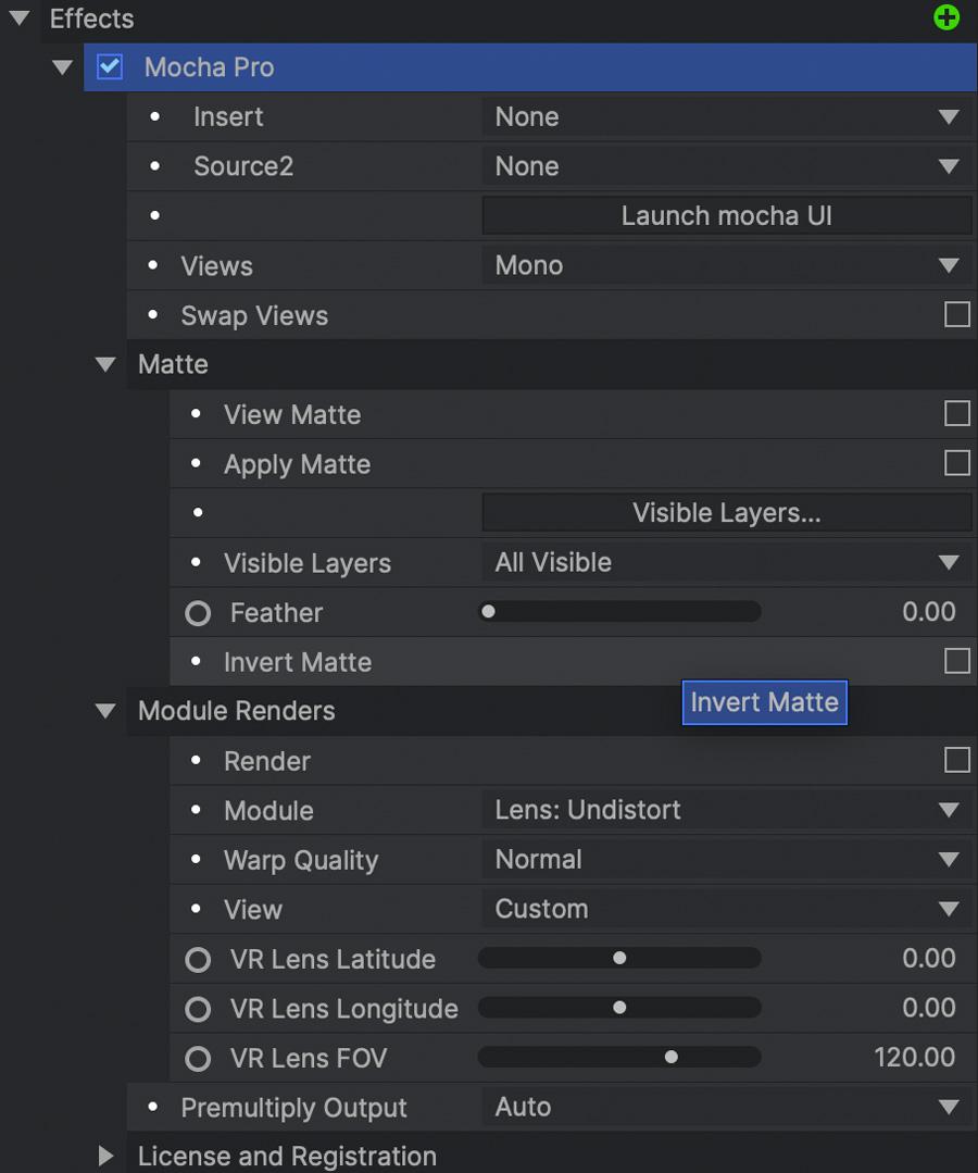 mocha hitfilm plugin full interface