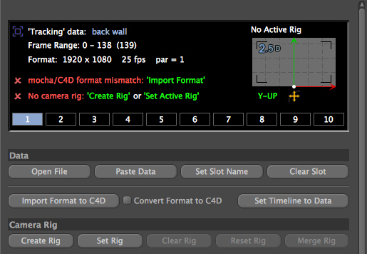 4.1.3 Imported MochaBlend Track Data