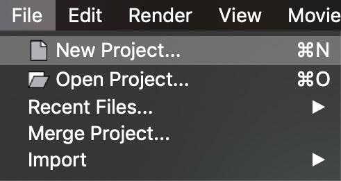 MENU NewProject 001