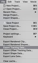 export tracking data filemenu