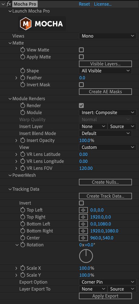 mochapro ae plugin full interface