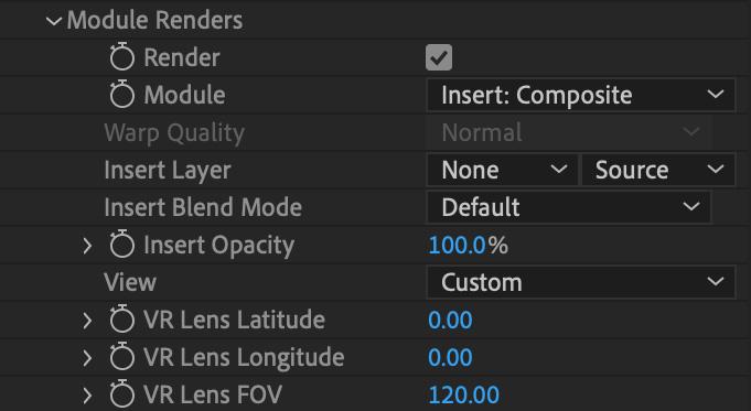 mochapro ae plugin renders section