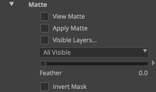 mochapro avid plugin matte section