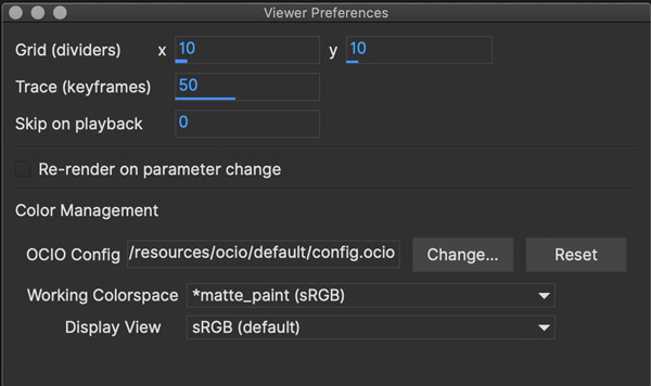 viewer preferences dialog