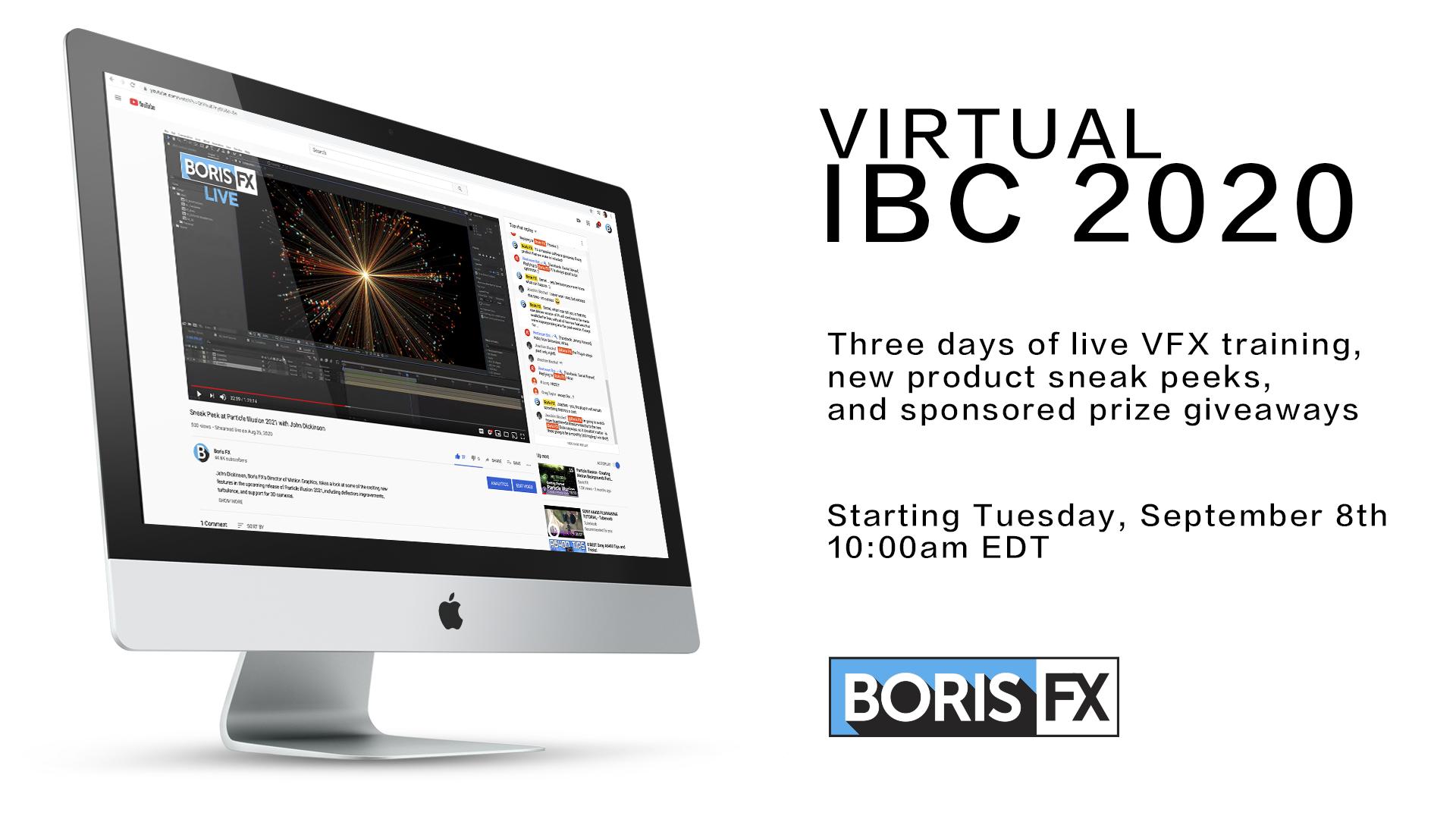 Boris FX IBC 2020 hero image