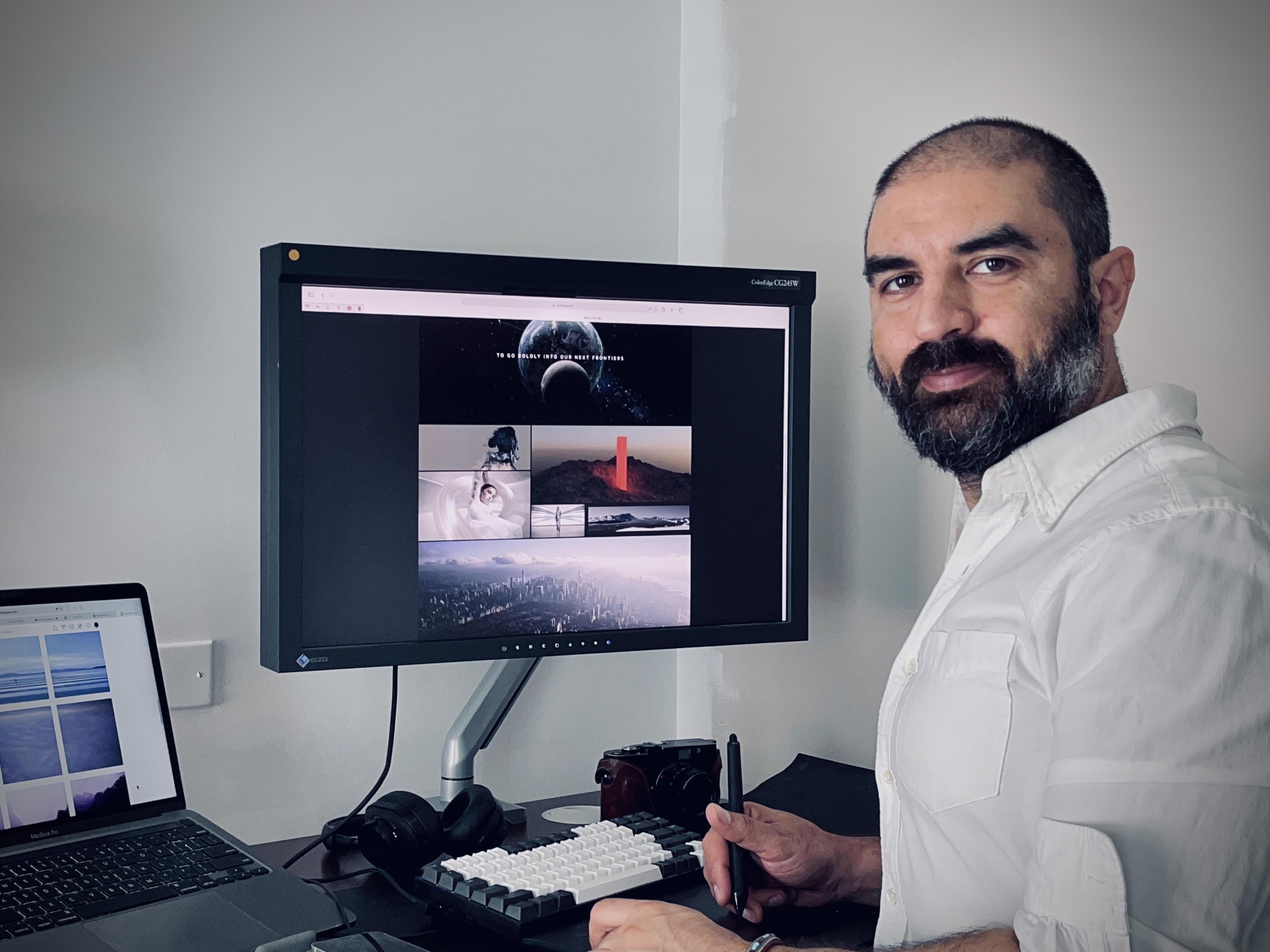 Navid Baghezadeh at his work station