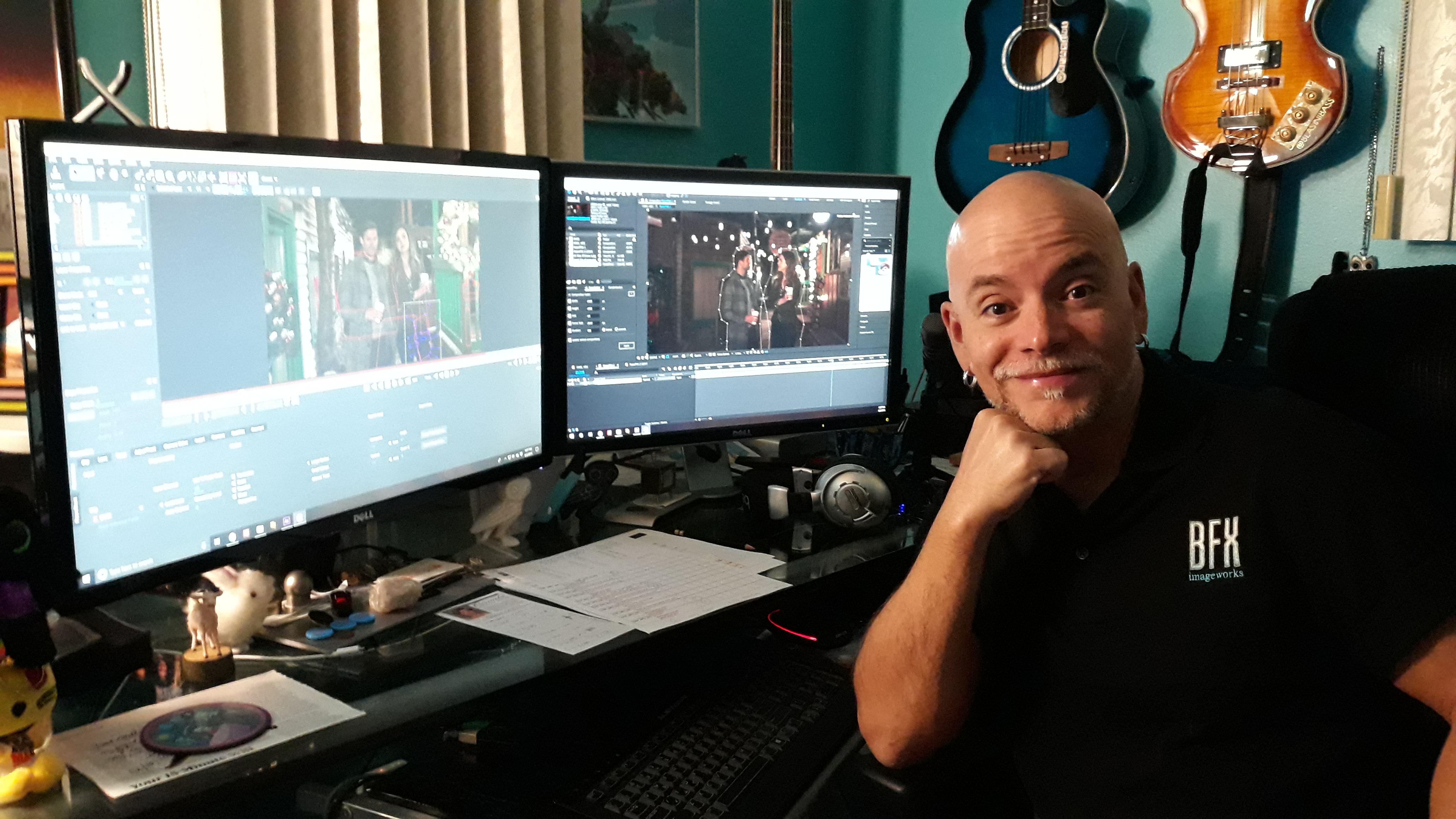 Blasini at his workstation
