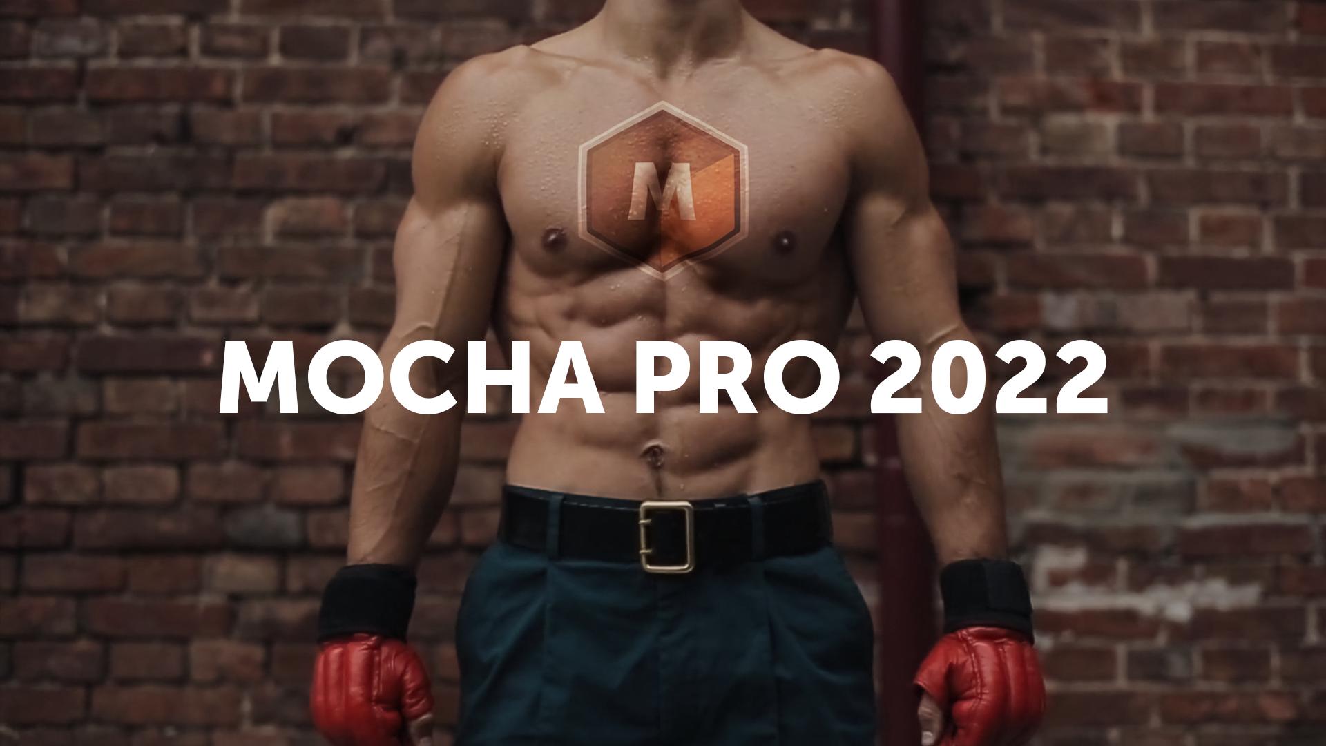 Mocha Pro 2022 hero image with boxer