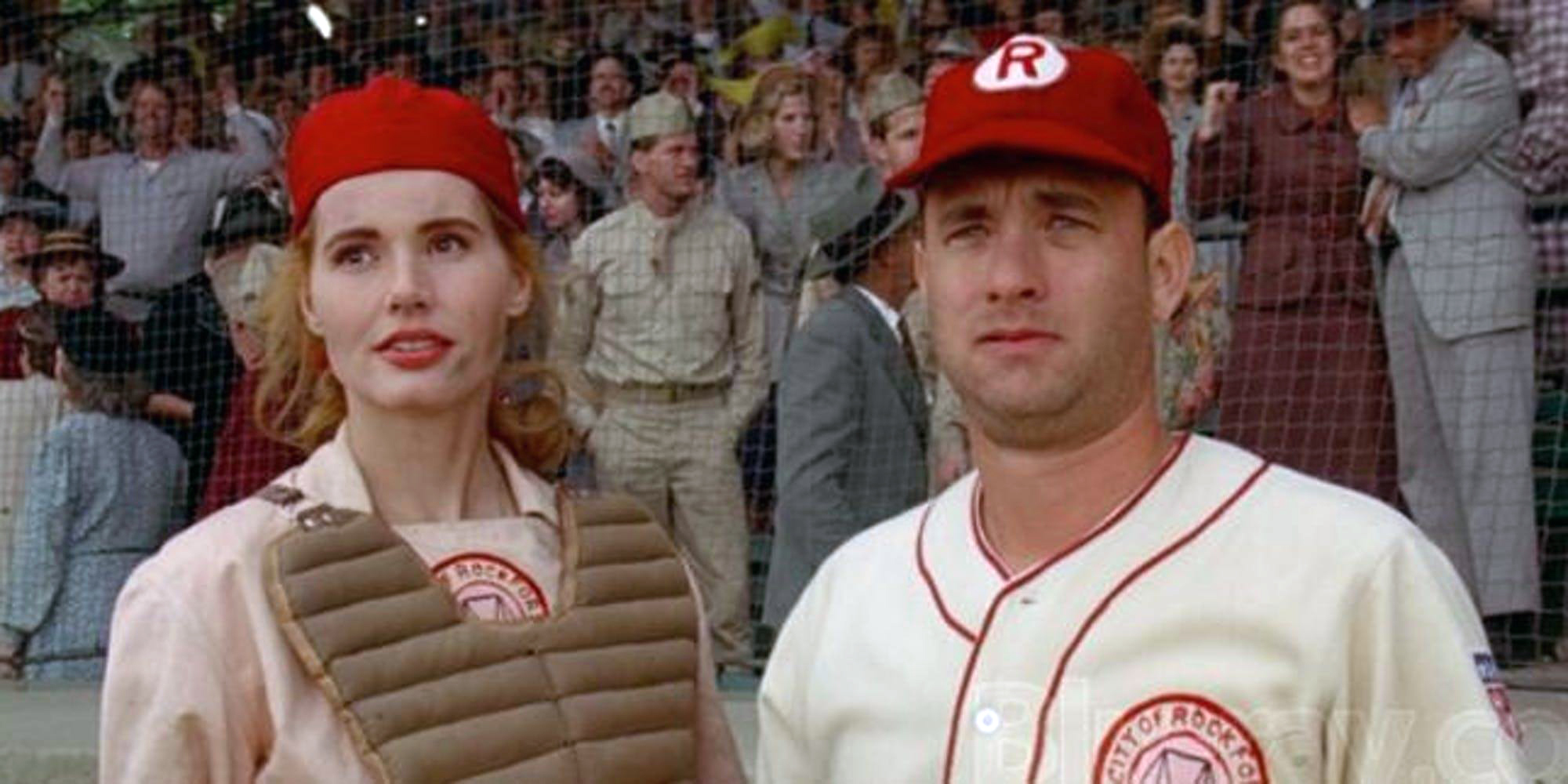 A League of Their Own, Geena David and Tom Hanks