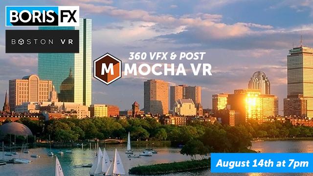 Boris FX - Boston VR meet-up banner