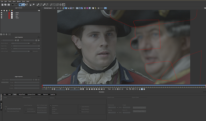 Outlander, tracking masks in AE, right actor