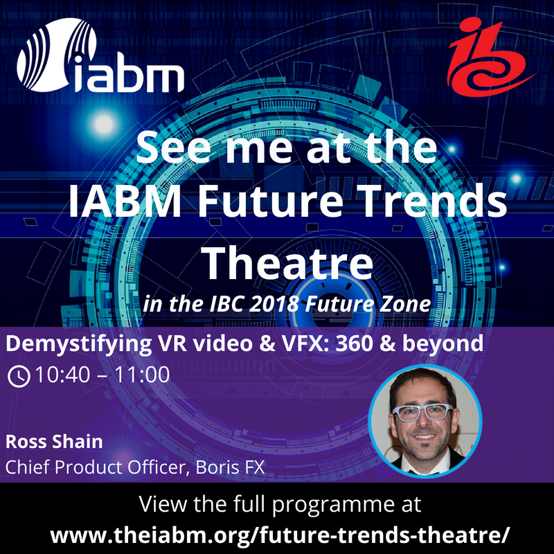banner for Boris FX at IBC: Future Trends Theatre