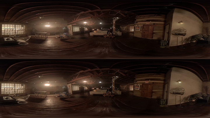 Shot example, after removing dolly using Mocha VR