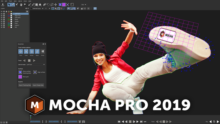 Mocha Pro 2019 banner image