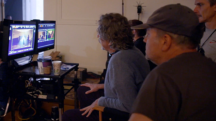On set with Director Peter Farrelly and Pixel Magic VFX Supervisor, Ray McIntyre Jr.