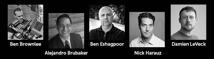 Headshots of special guest VFX artists and editors at NAB 2019